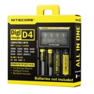 Nitecore D4 with LCD - universal charger, 4 slots.