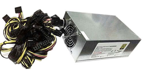 90+ Gold Power supply for ASIC Miners (PSU), 1800W (6-pin-10 pcs.).