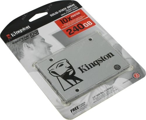 "Kingston UV400 240G SSD Hard Drive, SATA III, 2.5 ""."