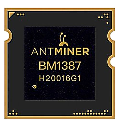 Original BM1387 / BM1387B ASIC Bitcoin miner chip (for Antminer S9/T9+).