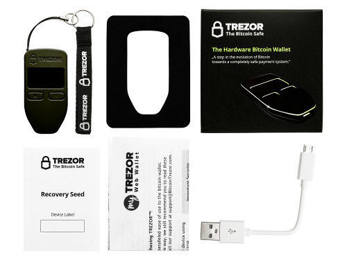 Billetera de hardware Trezor.